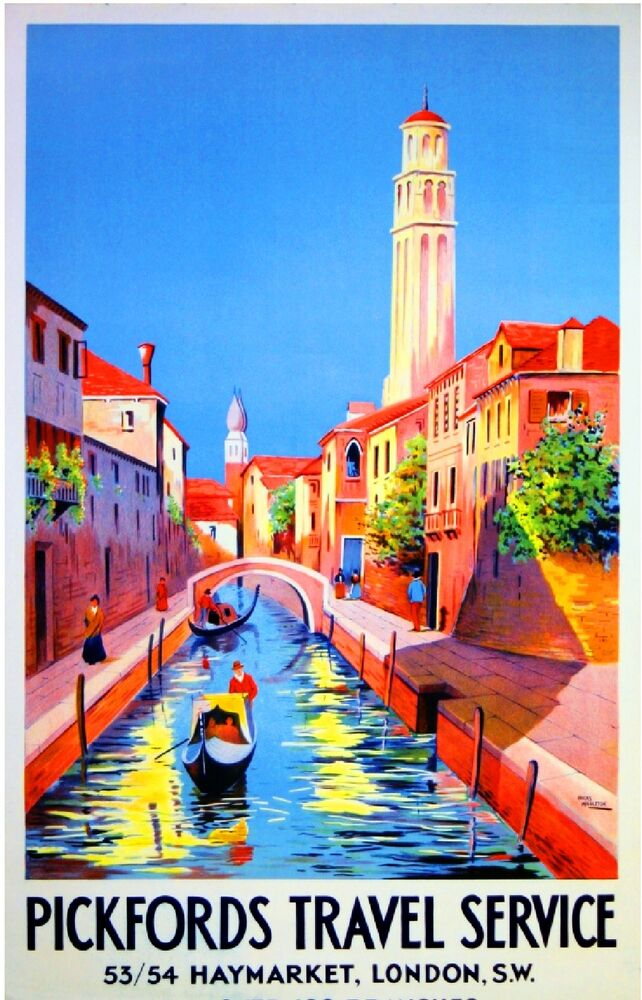 Pickfords Travel Service To Venice Italy Vintage Travel ...