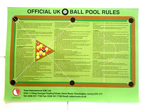 Official British 8 Ball English Pool Tables Room 1-9 Rules ...