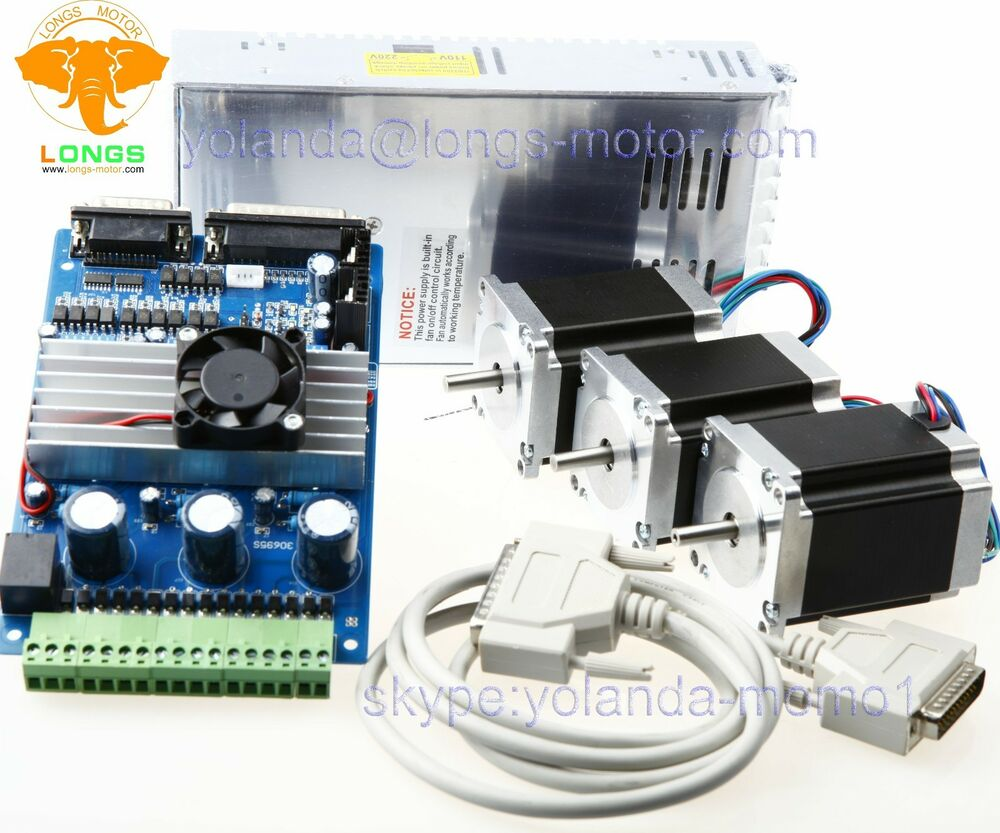 Stepper motor 3axis nema23 23hs8630 270oz in 3 axis board for 3 axis servo motor kit