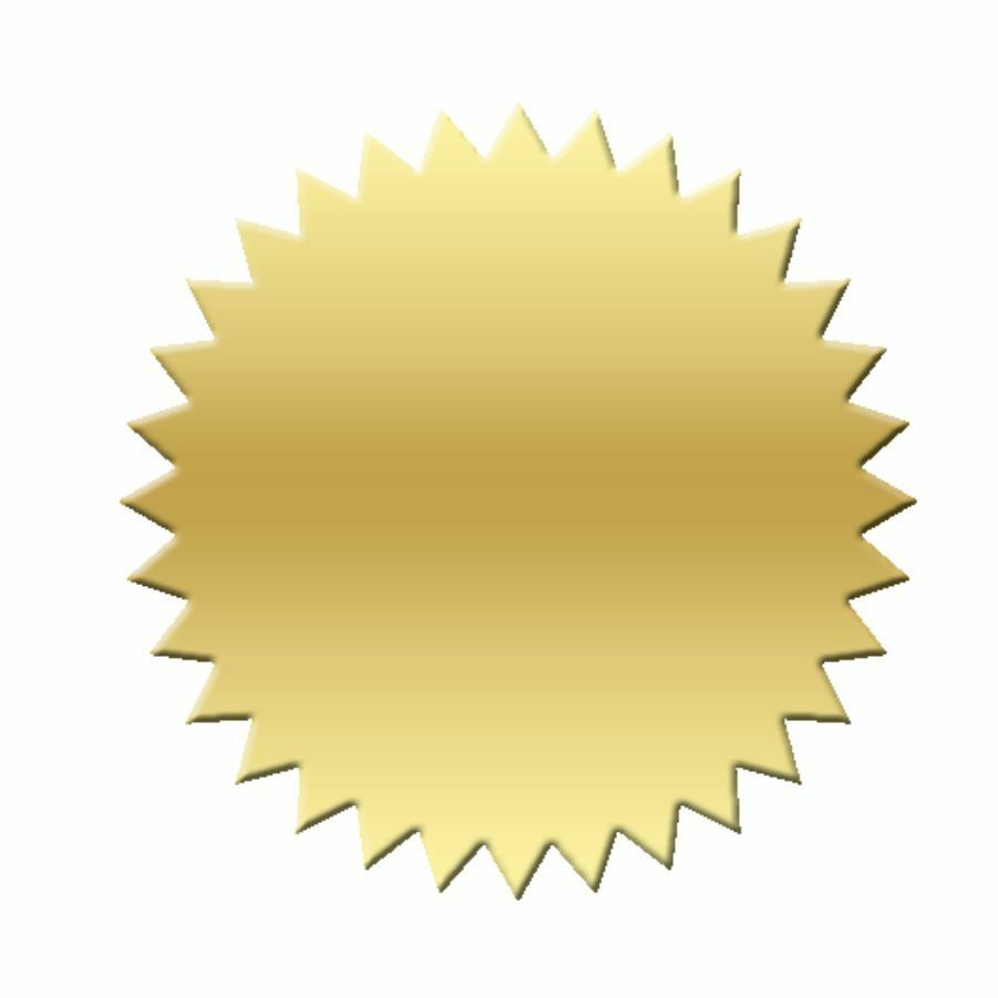 Blank Certificate Foil Seal Stickers Qty 50 Gold Ebay
