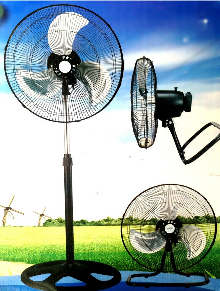 Large Floor Fans : Large high velocity industrial floor fan quot stand