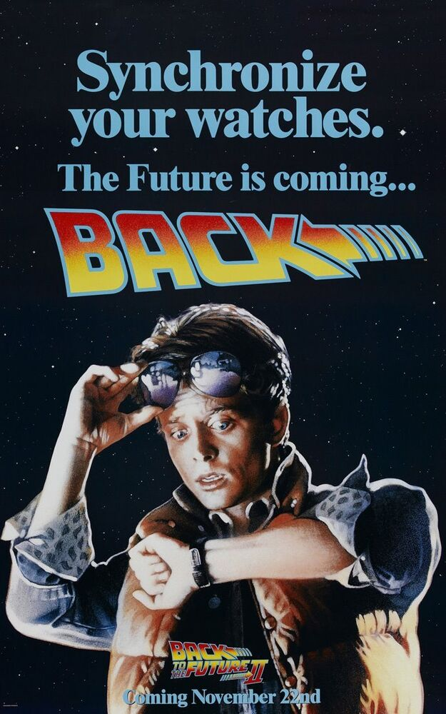 BACK TO THE FUTURE II MOVIE POSTER 1 Sided ORIGINAL 27x40 ...
