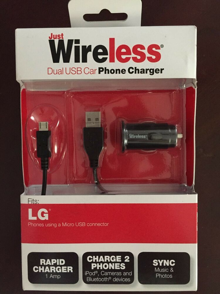 lg dual usb car cell phone charger just wireless micro usb. Black Bedroom Furniture Sets. Home Design Ideas