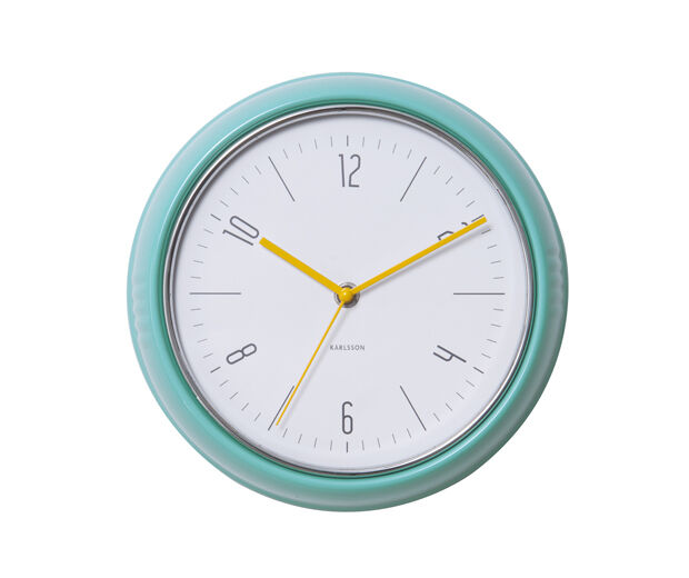 Karlsson Retro 1940 39 S Style Wall Clock In Turquoise Ebay