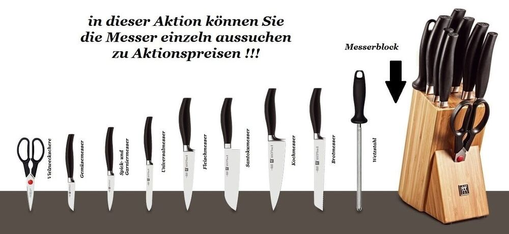 zwilling five star messer messerblock wetzstahl nach wahl ebay. Black Bedroom Furniture Sets. Home Design Ideas