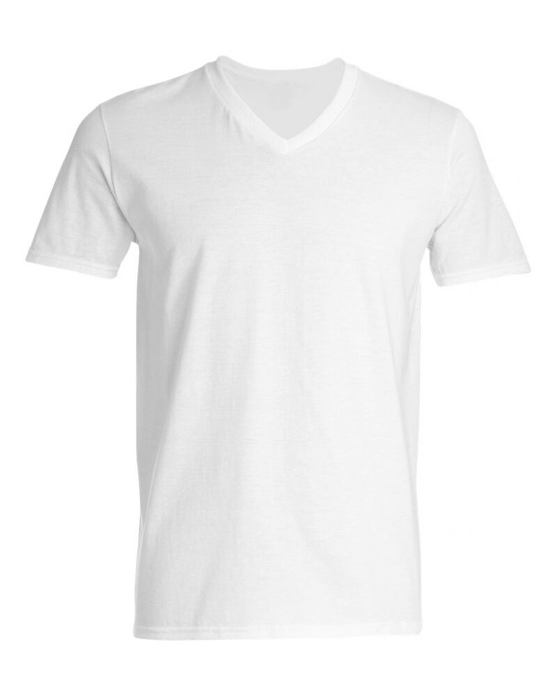 3 pack gildan v neck white shirts t shirts new in sealed for Gildan v neck t shirts for men