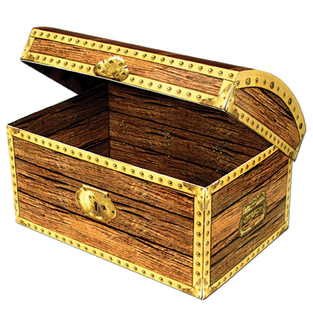 Large Pirates Treasure Chest Box 12'' - Pirate Treasures ...