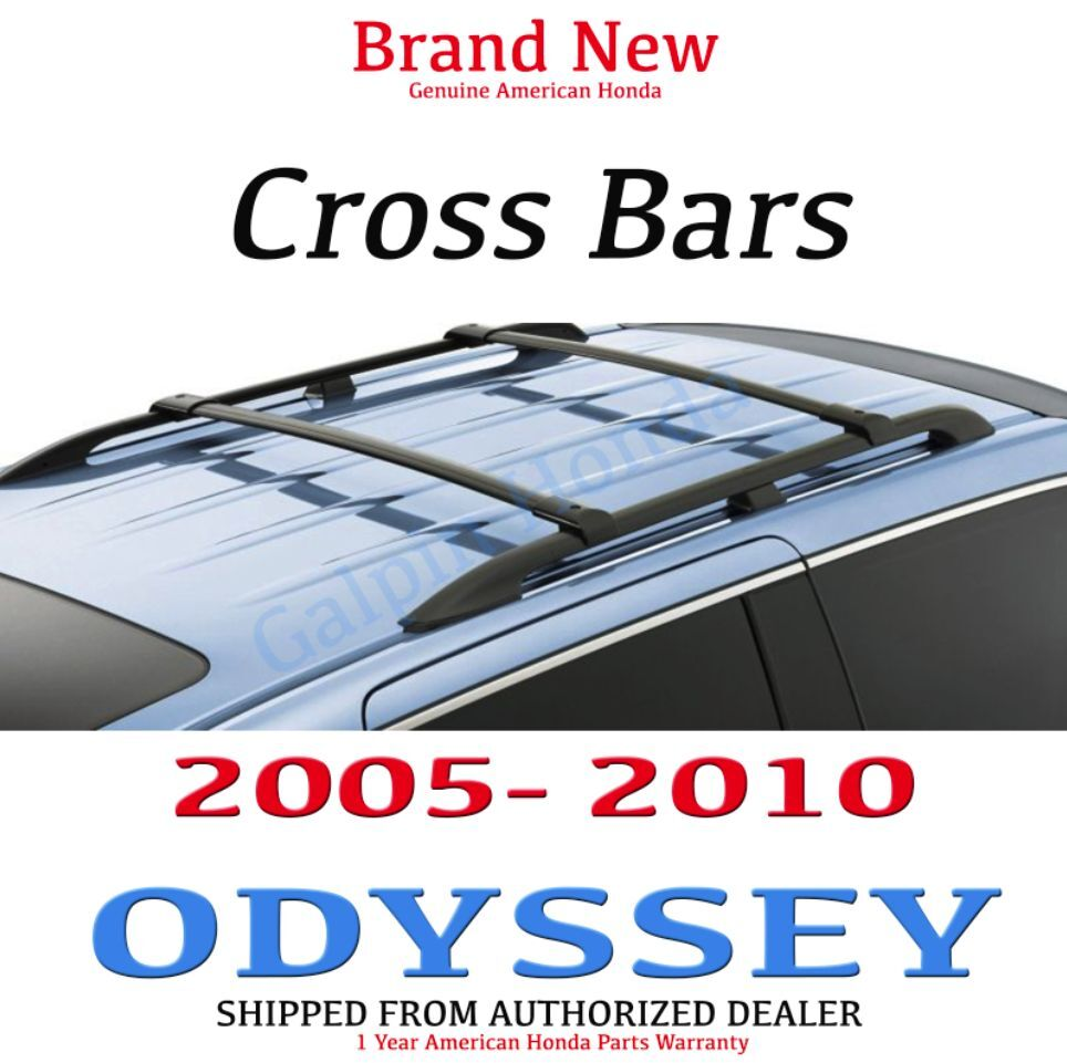 genuine oem honda odyssey cross bars 2005 2010 08l04 shj 101 ebay. Black Bedroom Furniture Sets. Home Design Ideas