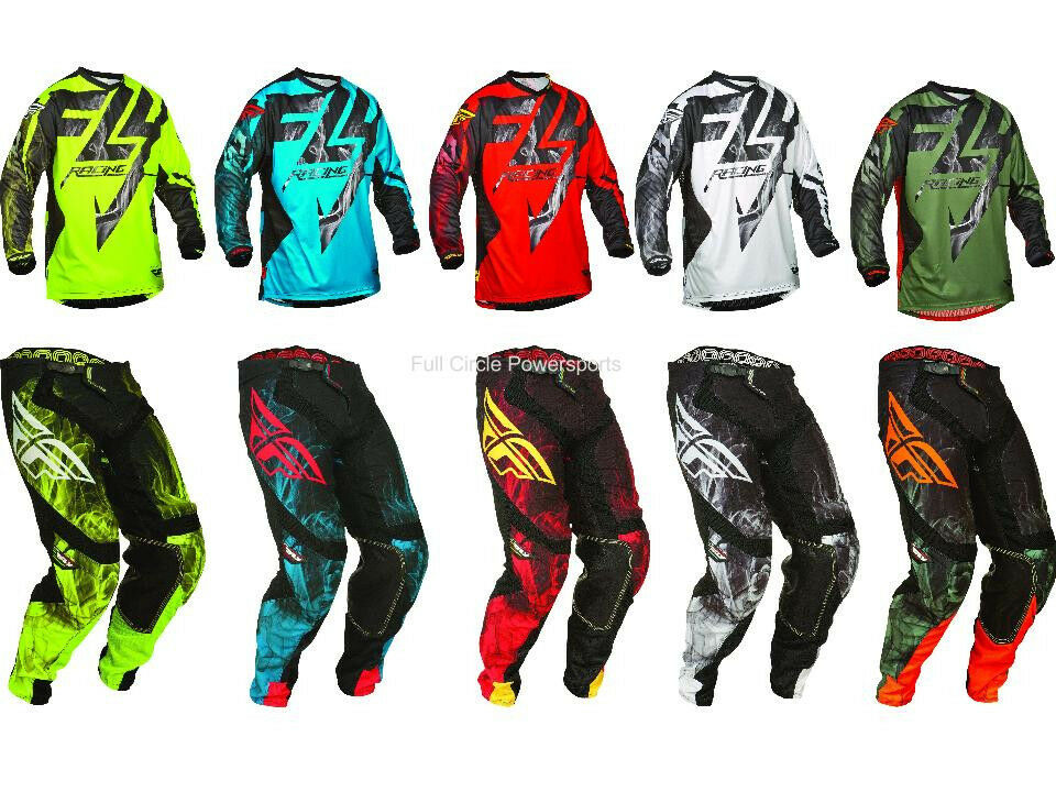 fly racing lite hydrogen jersey pant combo mx atv thin