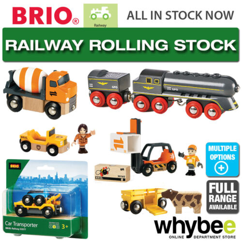 BRIO Railway Rolling Stock Full Range of Wooden Train Rolling Stock Children 1yr