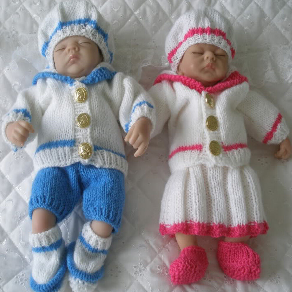 Creative Dolls Designs Knitting Pattern Sailor Suit suitable For 10