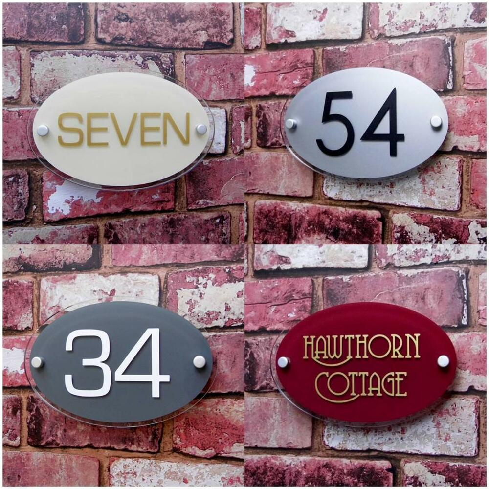 Personalised House Sign Door Number Street Address Name