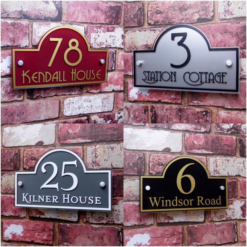 personalised house sign door number street address plaque. Black Bedroom Furniture Sets. Home Design Ideas