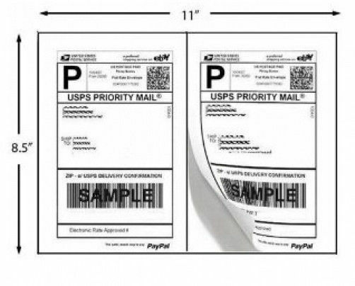 1000 Shipping Labels Paypal Click Ship Fedex Ups Laser
