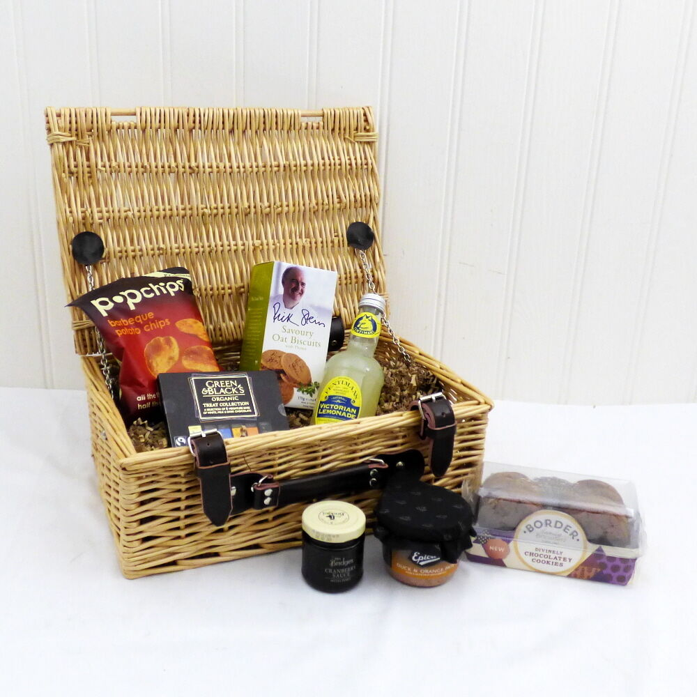 Gents Nibbles Luxury Wicker Birthday Gift Hamper Basket