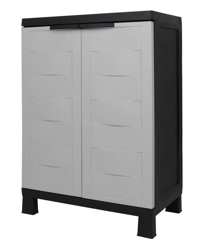 kunststoffschrank ger teschrank haushaltschrank beistellschrank small prestige ebay. Black Bedroom Furniture Sets. Home Design Ideas