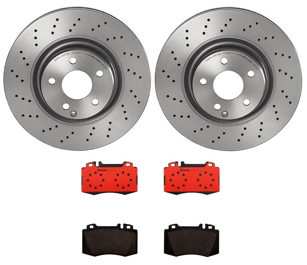 New mercedes w211 sl500 2003 front disc brake rotor pads for Mercedes benz e350 brake pads replacement