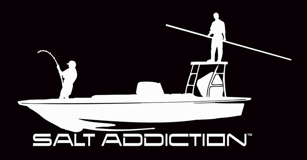 Saltwater fishing decal salt addiction sticker life flats for Saltwater fishing decals