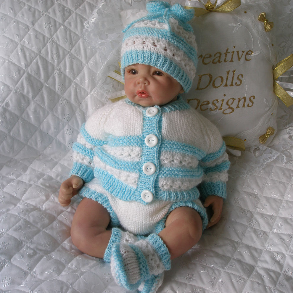 Knitting Baby Doll : Baby knitting pattern cardigan set suitable for