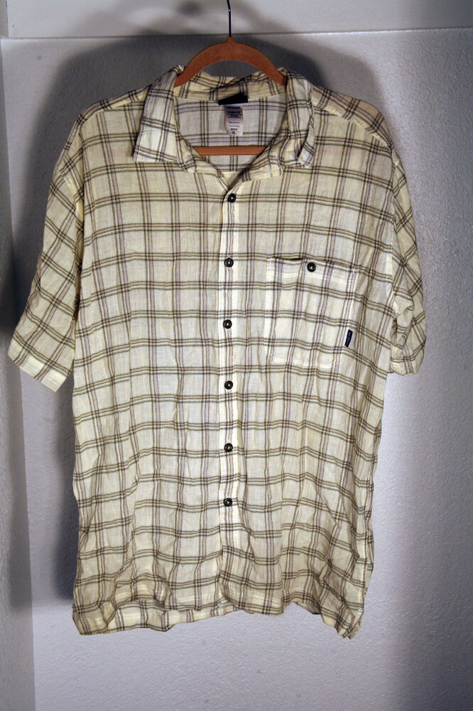 Nice patagonia organic cotton short sleeve flannel shirt for Mens xl flannel shirts