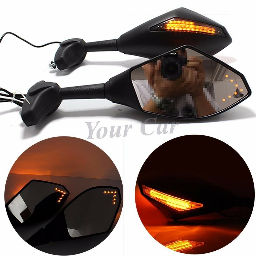 Motorcycle Led Turn Signals Indicator Rearview Fairing
