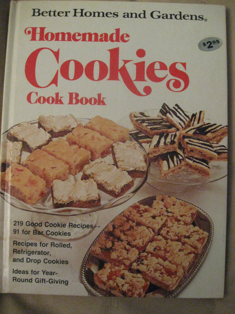 Better homes gardens cookies cook book hardcover 1976 Better homes and gardens gardener