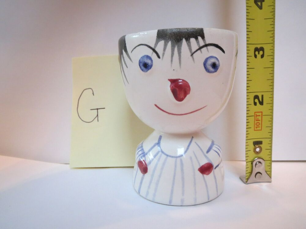 Double Egg Cup Cute Anthropomorphic G Ebay
