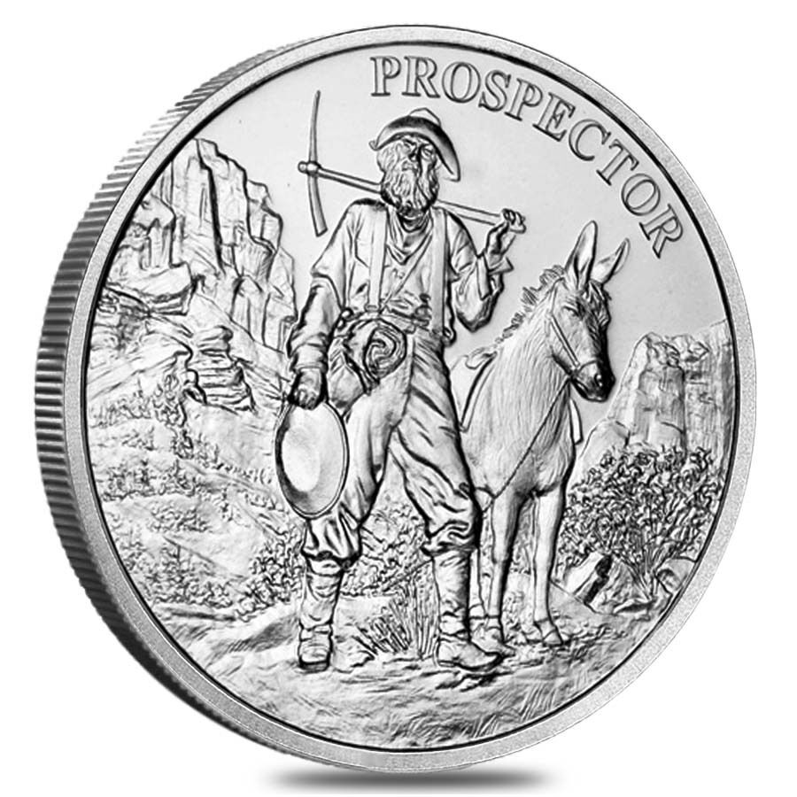 Lot Of 5 1 Oz Prospector Silver Round 999 Fine Ebay