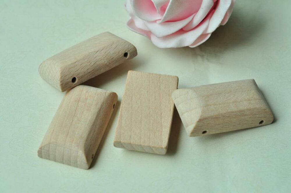 3pcs beech wood bead rectangular unfinished natural wooden for Sell handmade crafts online free