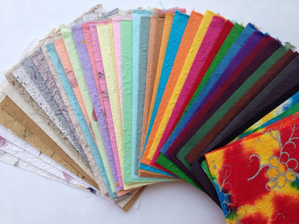 VALUE PACK 50 SHEETS of handmade THICK SAA MULBERRY PAPER ...