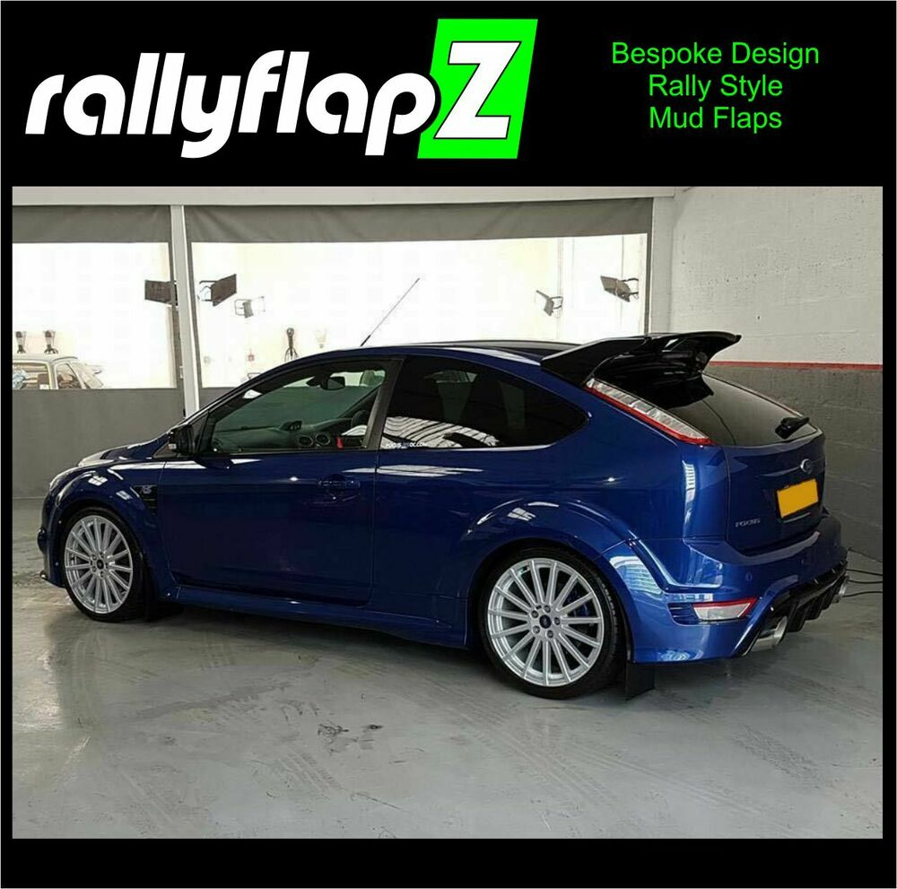 rally style mudflaps ford focus rs mk2 rs500 mud flaps. Black Bedroom Furniture Sets. Home Design Ideas