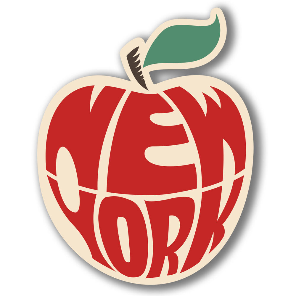 New York Big Apple Vinyl Stickers Travel Laptop Car Luggage Decal ...