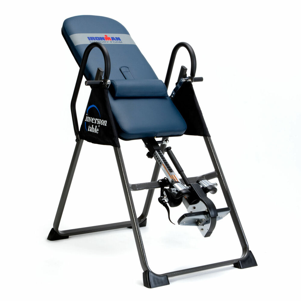 Back pain relief inversion table ironman 4000 inversion for Exercice table