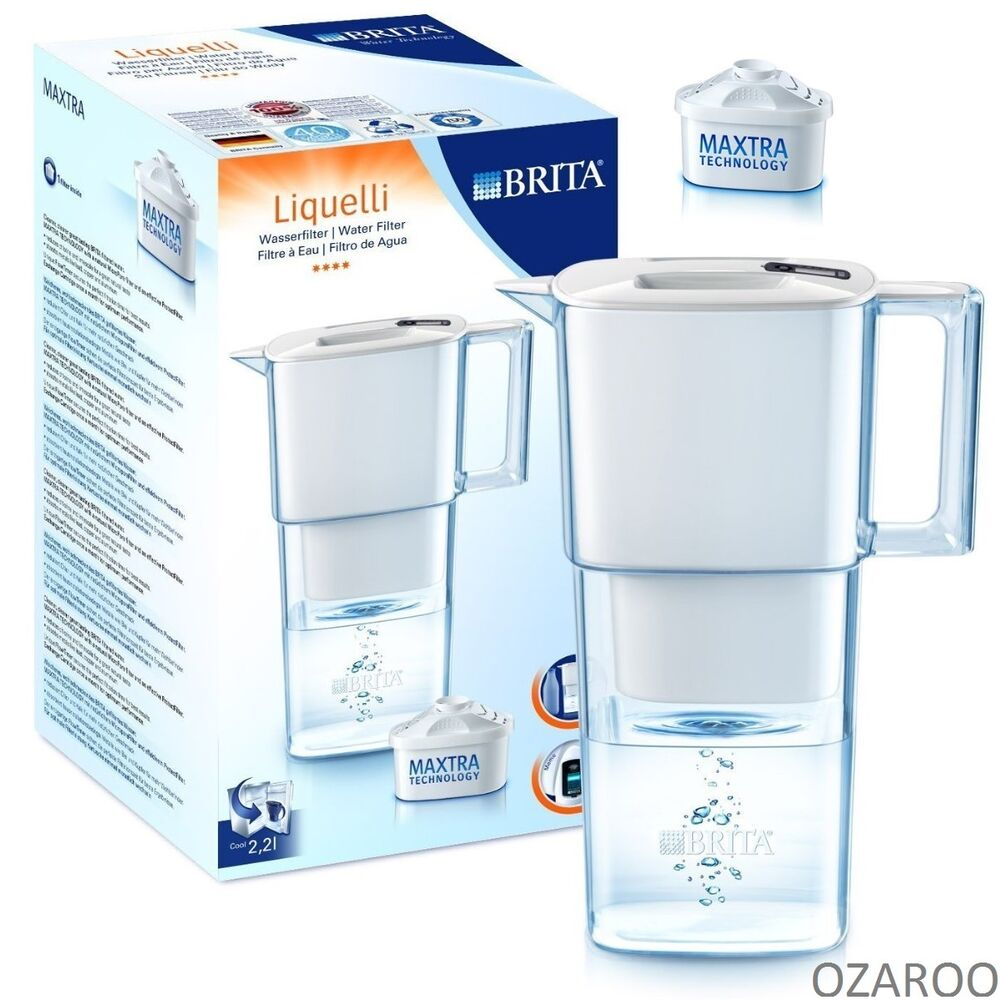 brita liquelli 2 2l cool white water filter jug with 1 maxtra filter value pack ebay. Black Bedroom Furniture Sets. Home Design Ideas