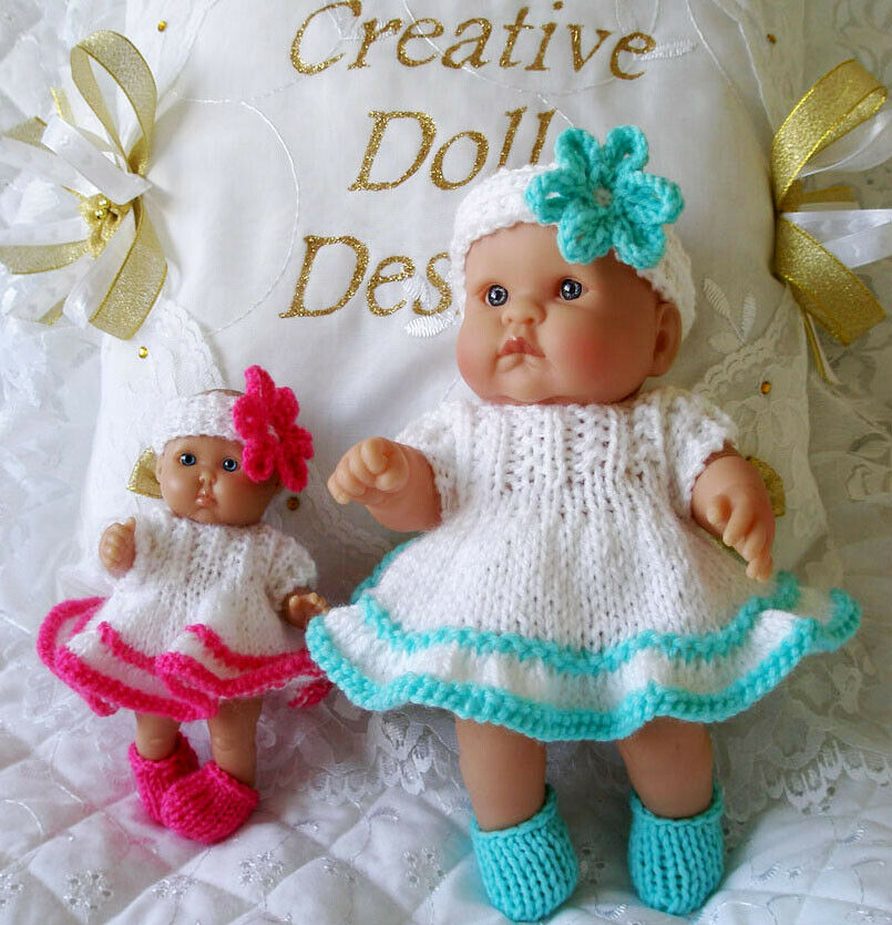 Creative Dolls Designs Knitting Pattern Dress Set For 5&8