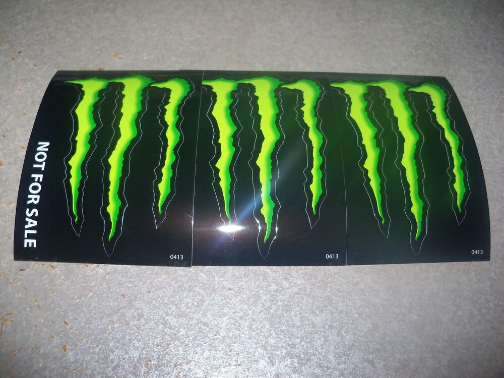 monster energy drink decal sticker 4 x 3 inches lot of 3. Black Bedroom Furniture Sets. Home Design Ideas
