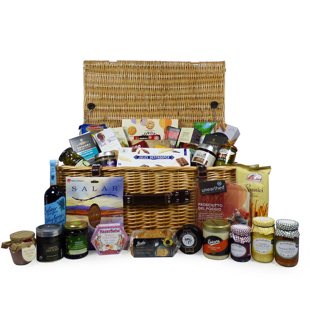 ... Hamper Large Birthday Food Wicker 45 Items Wedding Gifts eBay