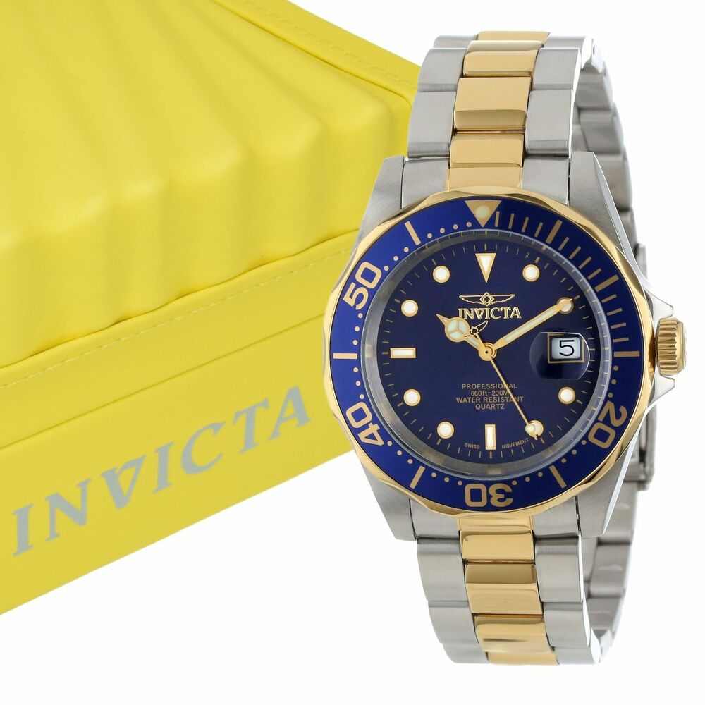 Invicta 9310 pro diver collection swiss quartz movement stainless steel watch ebay for Watches on ebay