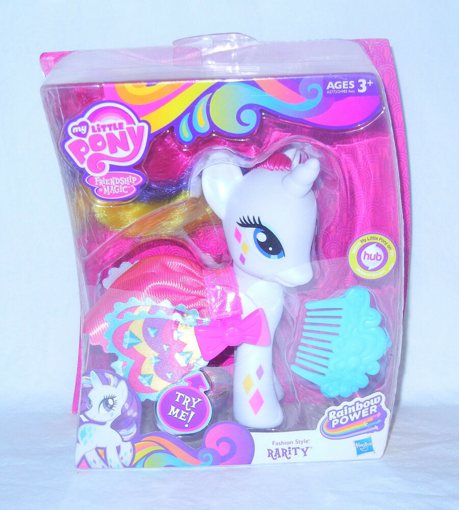 My Little Pony G4 Fim Fashion Style Rainbow Power Rarity Mib Ebay