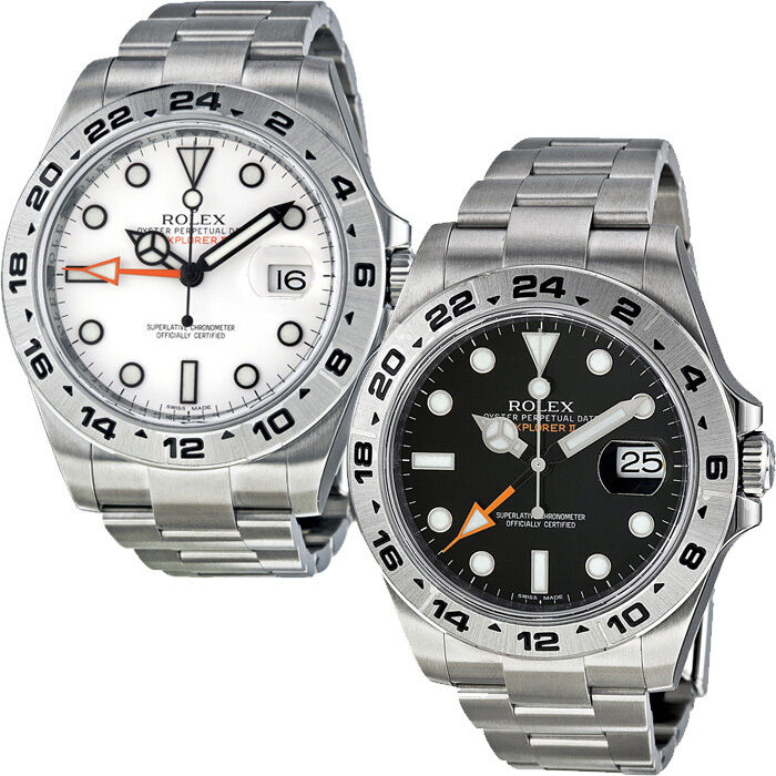 rolex explorer ii automatic stainless steel mens