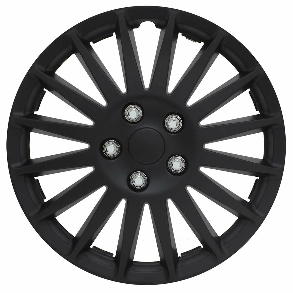 Car Covers At Autozone >> Pilot Automotive 16 Inch Indy All Black Wheel Cover WH521 ...
