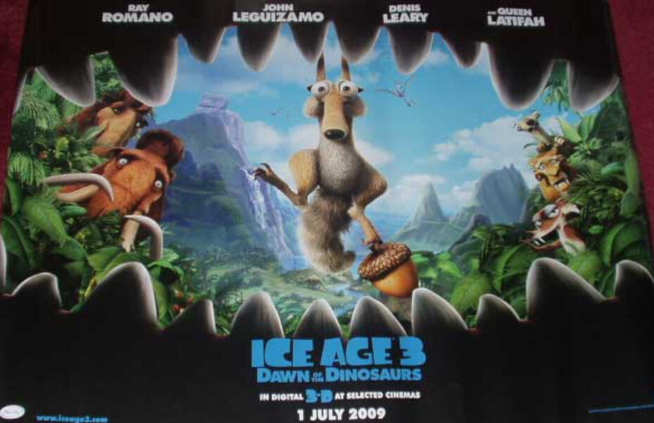 Cinema Poster: ICE AGE 3 DAWN OF THE DINOSAURS 2009 (Main ...