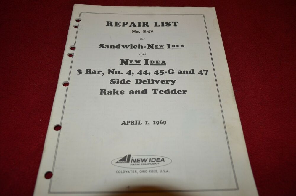 New Idea Rake Parts List : New idea g side delivery rake tedder parts