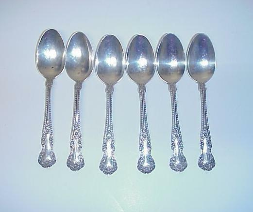 Gorham sterling silver teaspoons carl mayer 99 6 grams set for 6 table spoons
