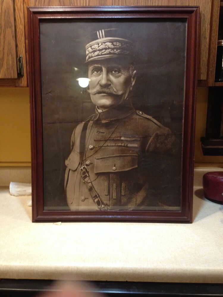 ... GENERAL FOCH PICTURE AND FRAME E. ULLMAN MFG. CO. NY 26 X 20 : eBay