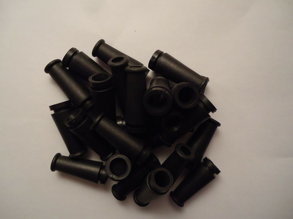 10pc  black rubber sleeved cable grommet