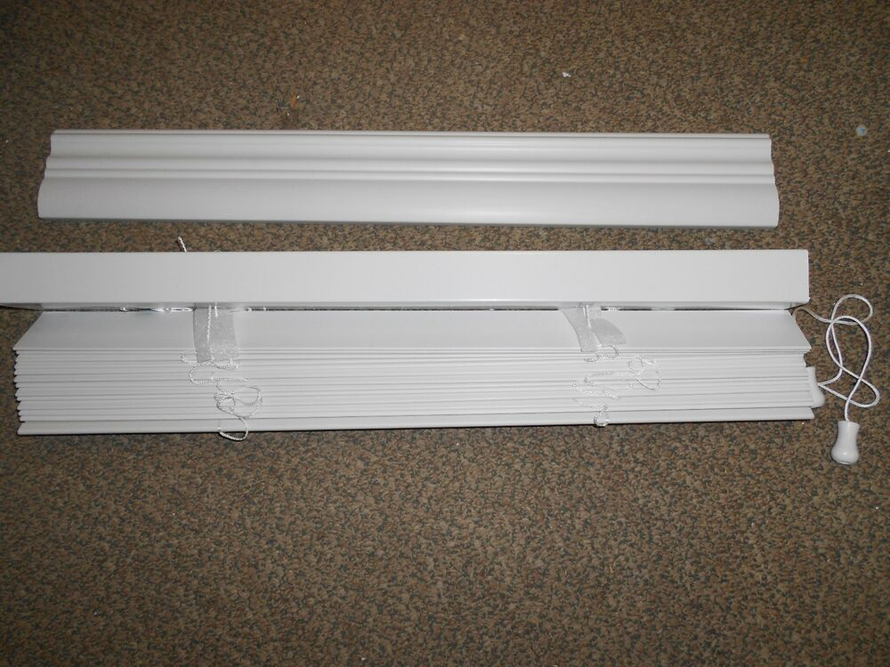 White 2 Faux Wood Blinds 30 X 72 Mobile Home Rv Camper House New Ebay