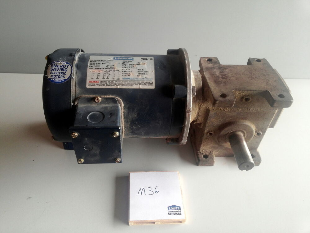 Leeson C4t17fc40a Gearmotor C4t17fc40a W Right Angle Gear