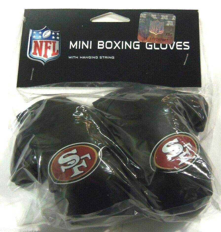 Nip Nfl 4 Inch Mini Boxing Gloves San Francisco 49ers Ebay
