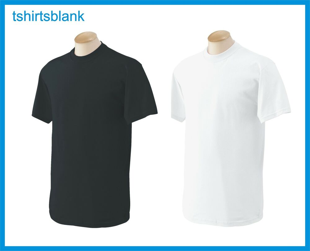 100 T Shirts Blank 50 Black 50 White Bulk Lot S Xl
